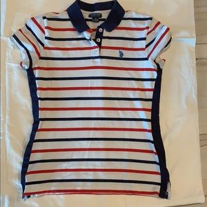 US POLO ASSN. WOMENS COLLARED SHIRT SZ MED